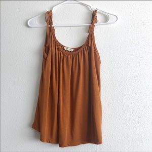 Made well rust tie string tank top